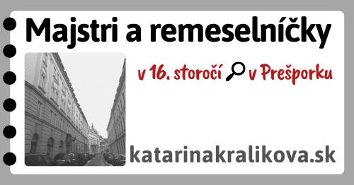 2020-Majstri a remeselníčky v 16.storočí v Prešporku