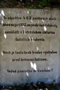 Pamätník obetiam fašistov v Petržalke - foto - wikipedia