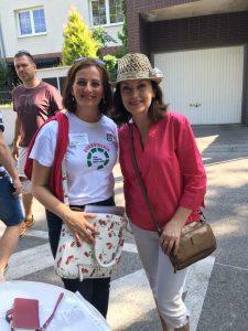 Katarína Králiková a Beáta Dubasová na spoločnej fotke pri Kochovej záhrade